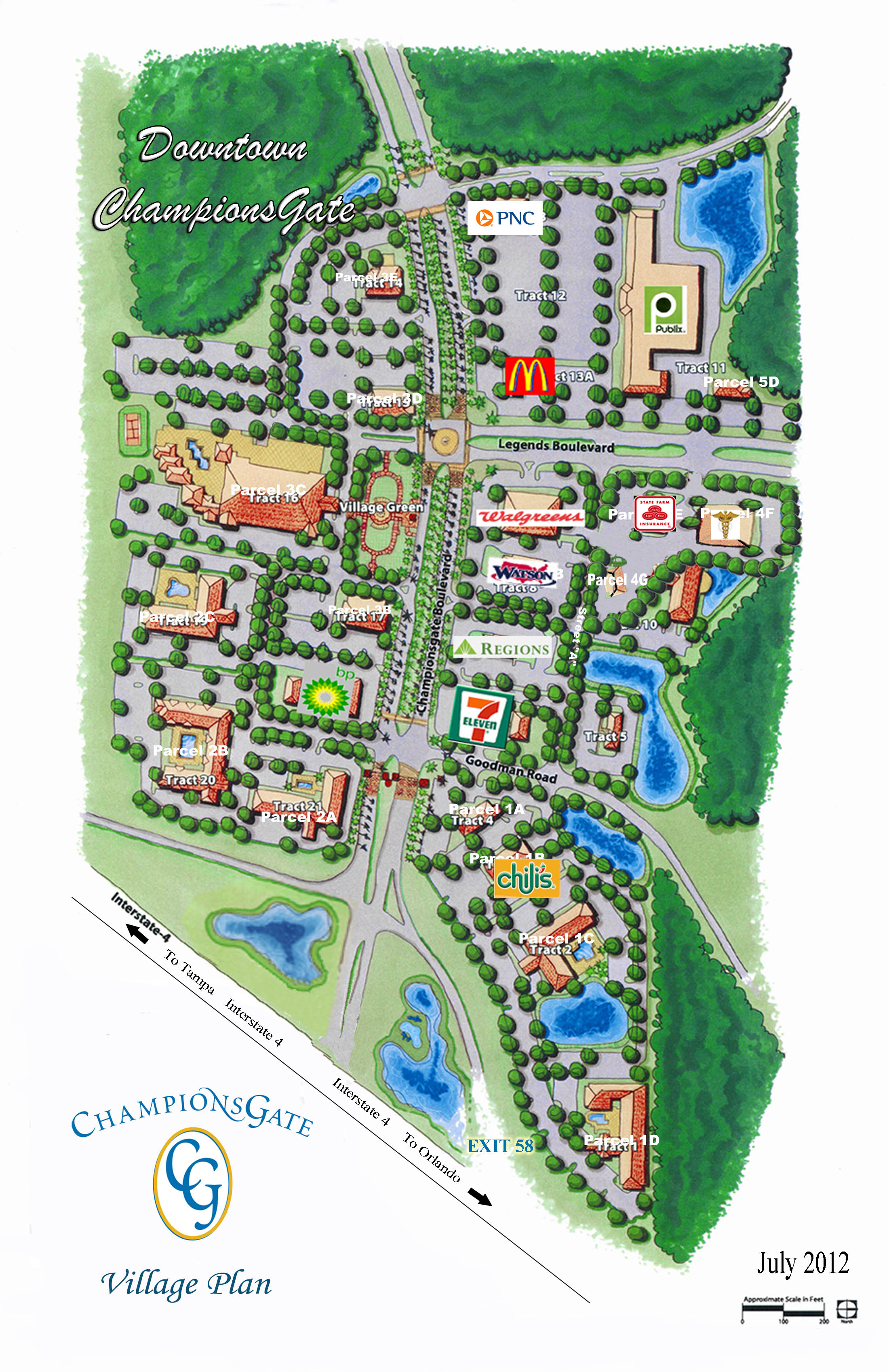 CG Village Map - Updated July 2012