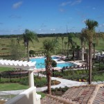 The Villa's Patio view